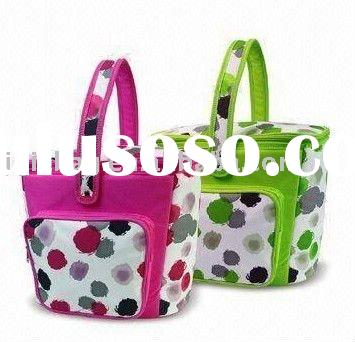 Picnic Basket/Cooler Bags with Insulated Lining, Measures 35 x 18 x 30cm
