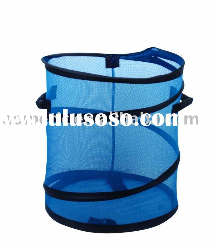 Pop-up mesh laundry basket with 2handles