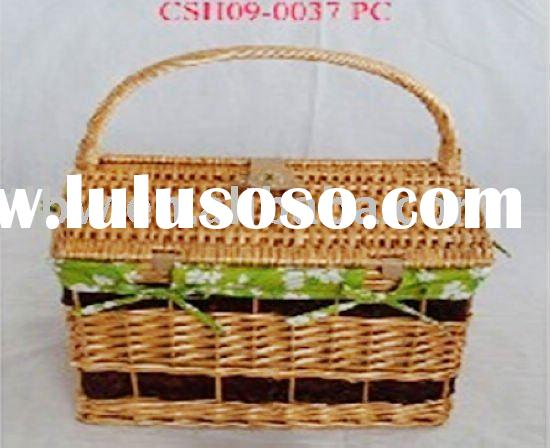 cheap picnic basket willow shopping basket with handle
