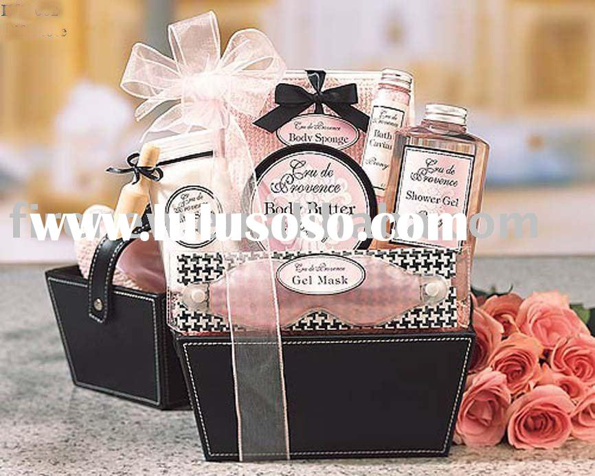 faux leather gift baskets