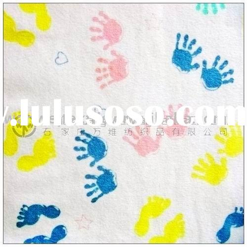 100% cotton printed flannel fabric for baby blanket