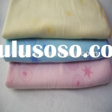 100% polyester polar fleece fabric printed baby blanket
