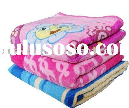 100%polyester printed baby fleece blanket