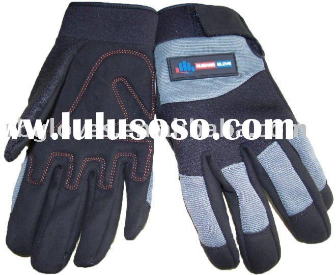 100% pu synthetic leather glove