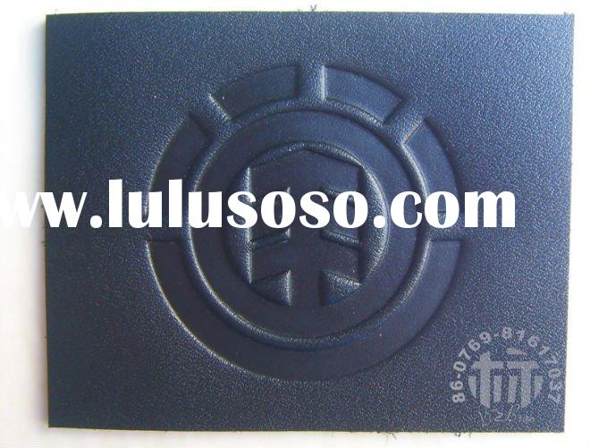 2011 High-quality Embossed Real Leather Label