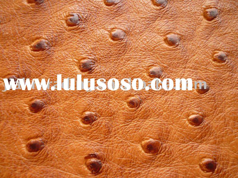 2011 ostrich embossed artificial leather for upholstery