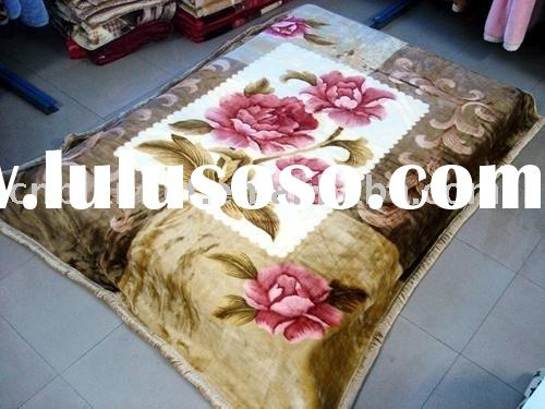 Acrylic Mink Home Blanket with carving200x240cm