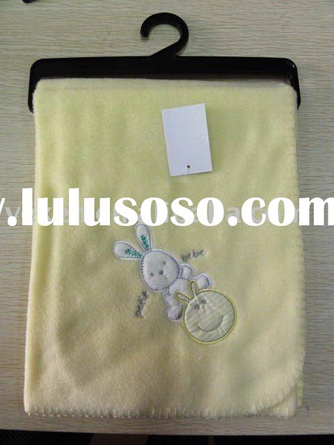 Applique Polar Fleece Baby Blanket