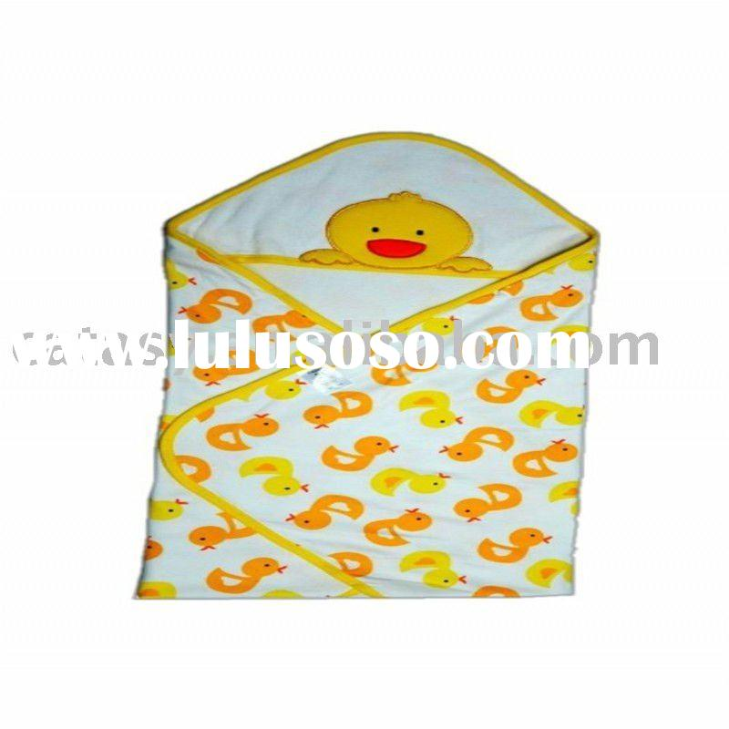 High quantity 100% cotton baby blankets colorful with competitive price