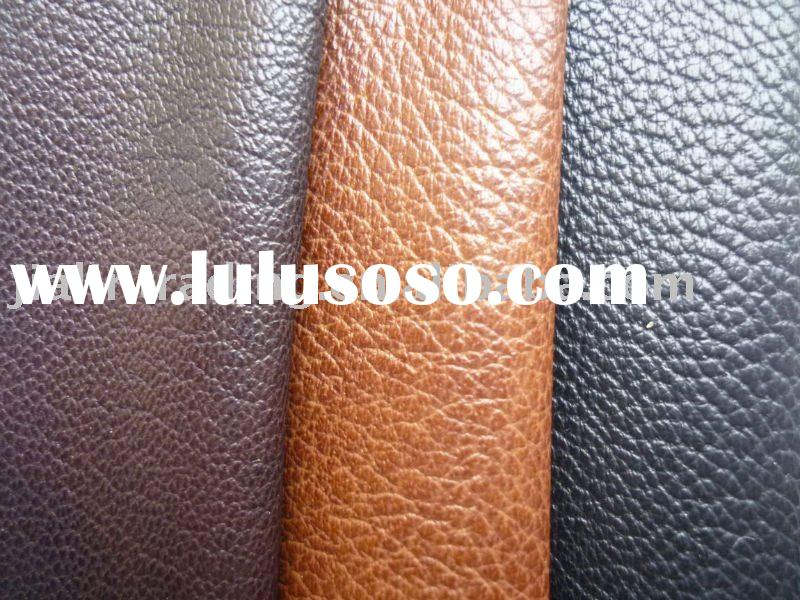 Polish effect sheep raw leather