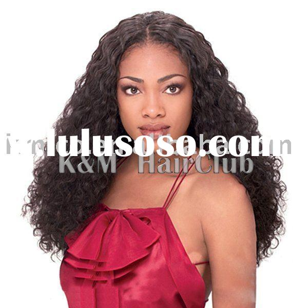 cheap long curl synthetic lace front wigs for black women