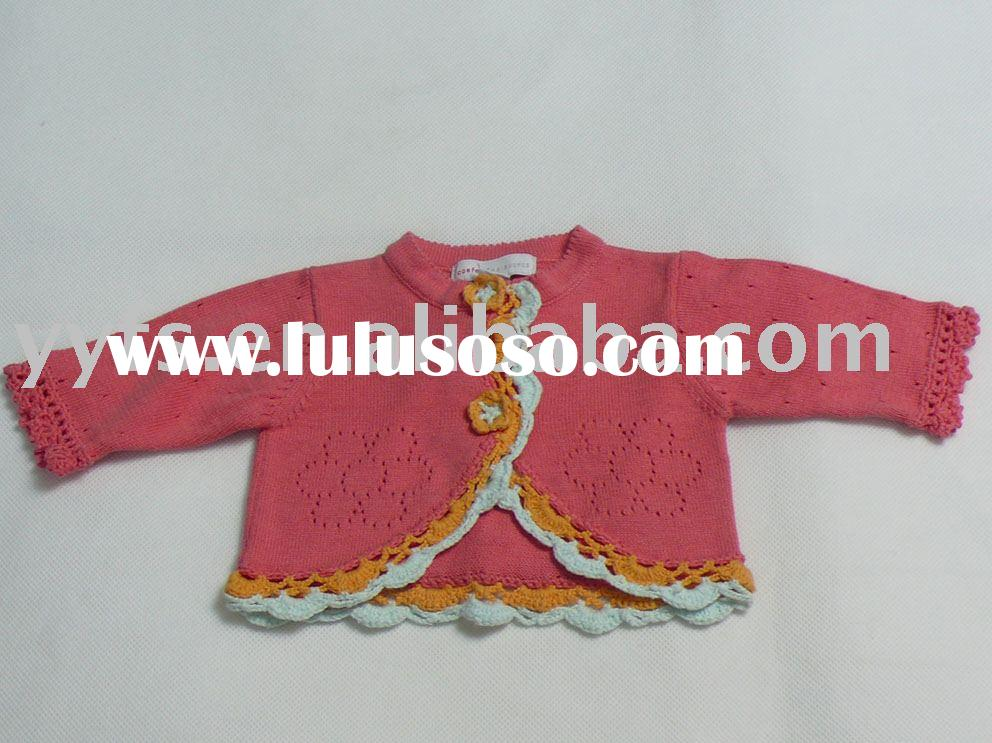 children sweater,baby's knitwear,100%cotton baby clothes