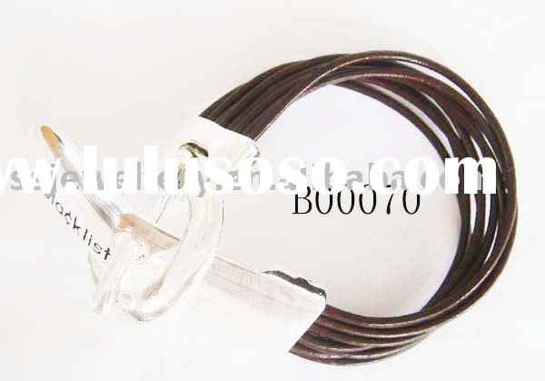 leather bracelet/men's jewelry