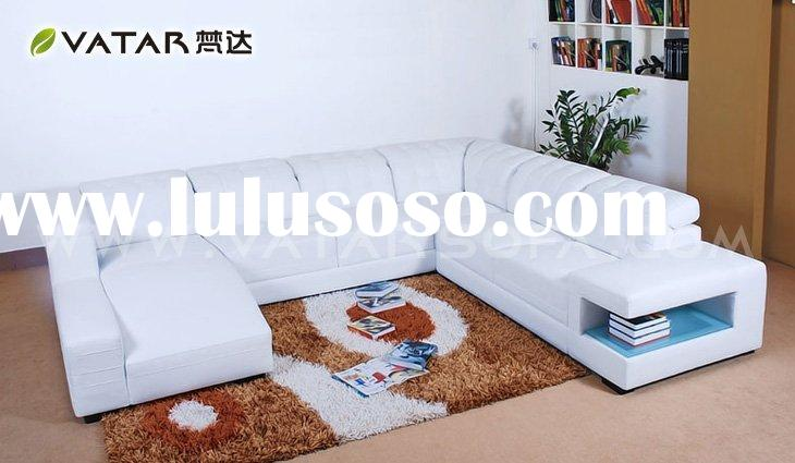 leather modern sectional sofa/modern leather sofa/