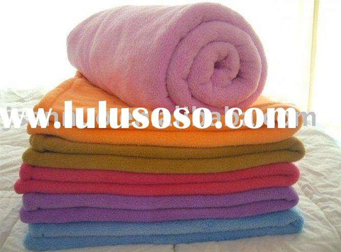 plain anti-pilling polar fleece blanket
