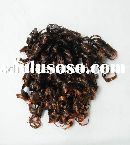 synthetic hair extension.kinky afro curl lace wig