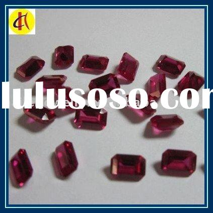 8# Emerald Cut Synthetic Ruby Loose Gems