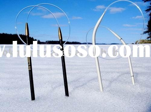 Circular aluminum knitting needles