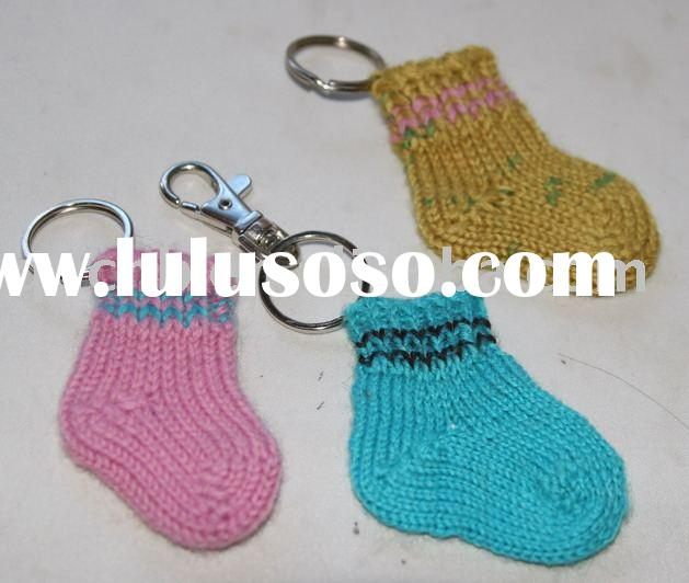 Knitted Socks Keychain, Knitted Stockings Keychain, Mini Knitted Socks Key Chain Mini Socks
