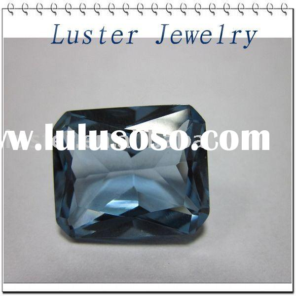 Princess Cut Created Sapphire Synthetic Corundum 33#