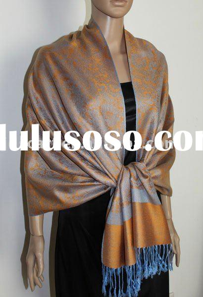 Z029_0012#. pashmina scarf with classical whole paisley jacquard pashmina design