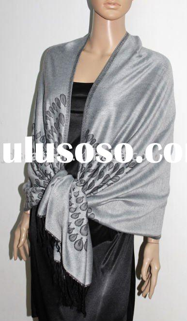cotton fashion pashmina shawl with TearDrops pattern