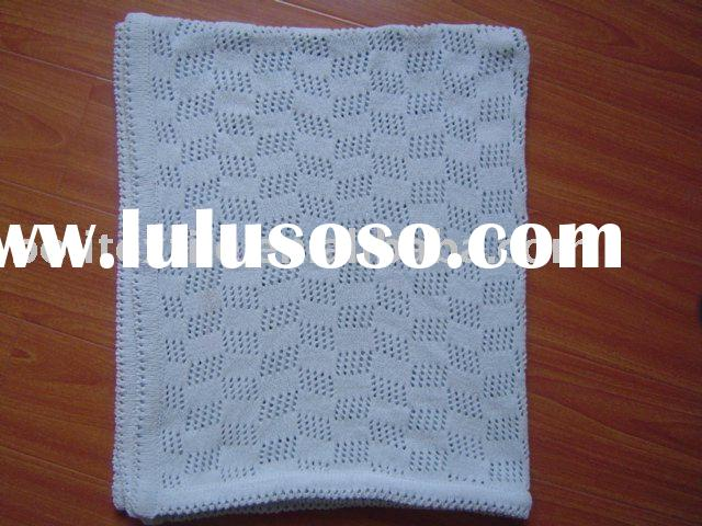 cotton knit blanket,cotto baby blanket,cotton shawl