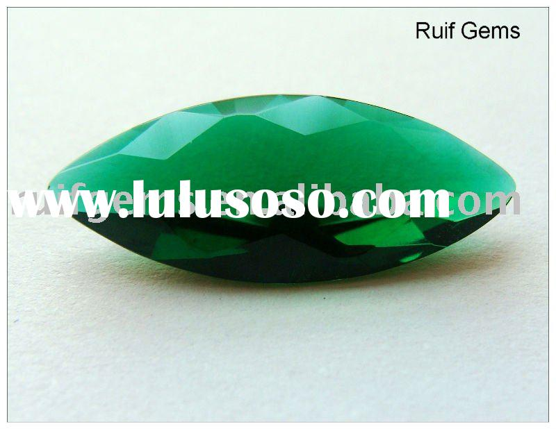 emerald color synthetic stone