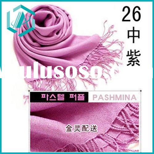 high quality and low price light purple pashmina scarf