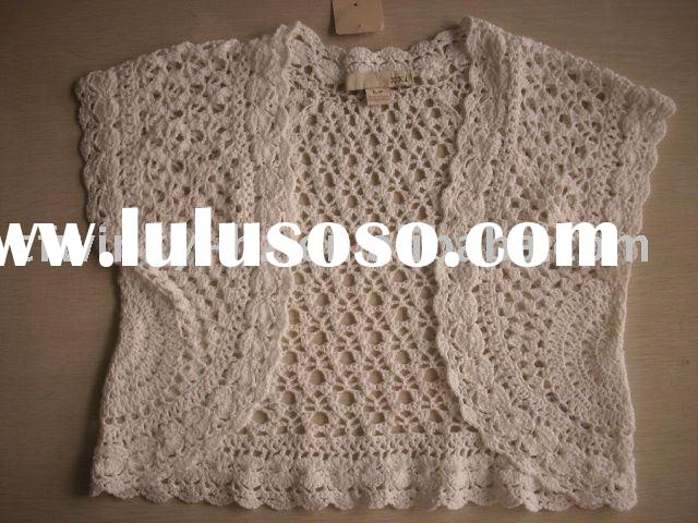 ladies hand crochet sweater/lady fashion knitted shawl