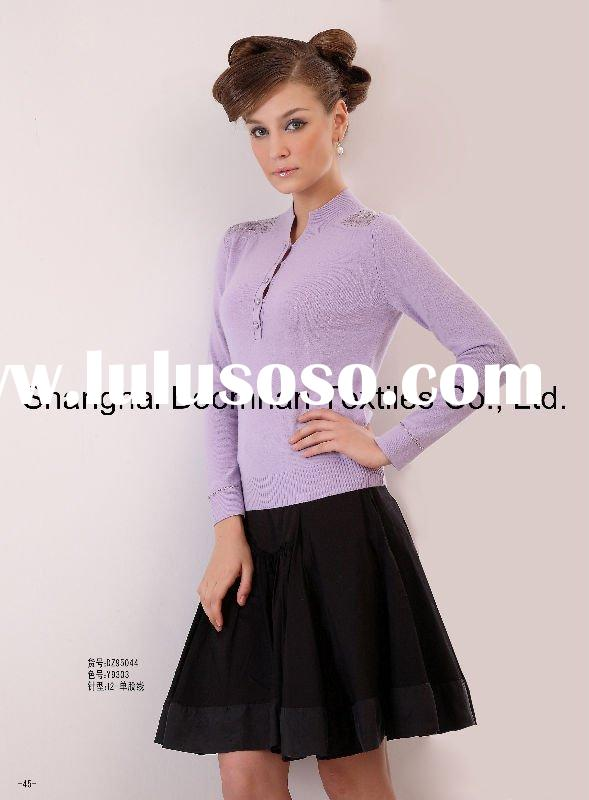 ladies knitted 100% cashmere sweater