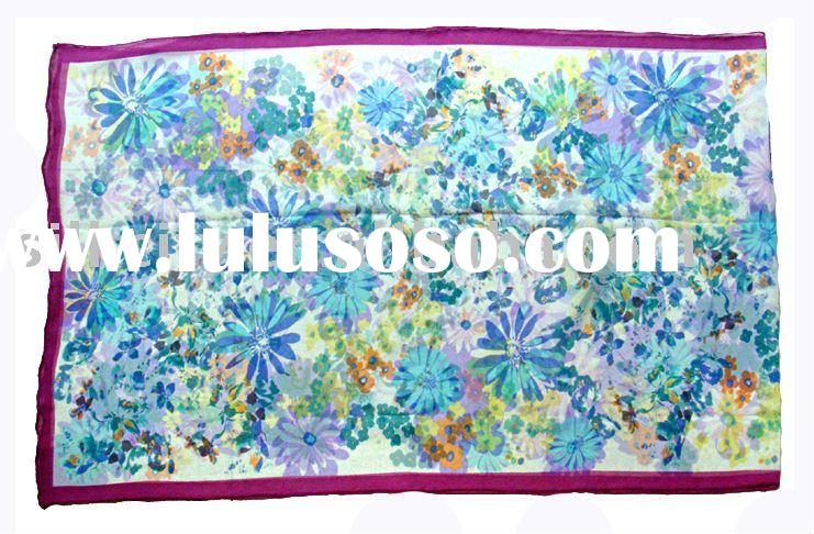 silk shawl, fashion shawl , fashion silk shawl (CQ0913-5)