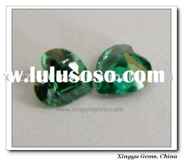 synthetic emerald / heart shape synthetic emerald