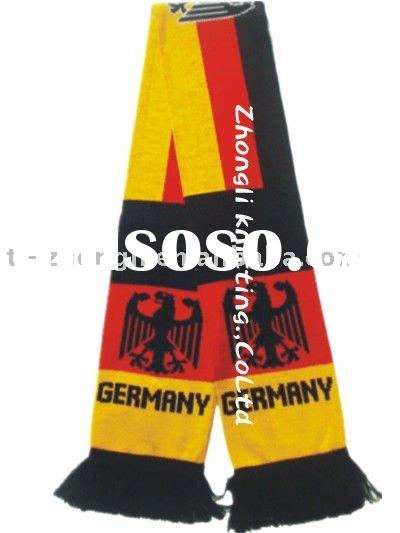the new design sports team flag jacquard knitted football scarf