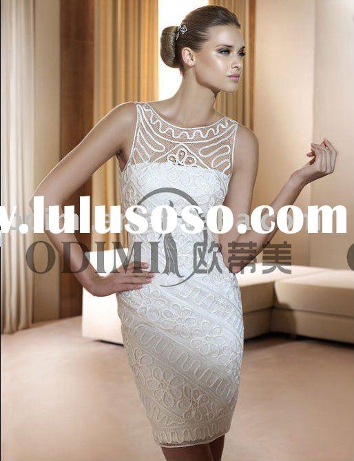 2011 Kingly Sleeveless Lace Short Wedding Dresses