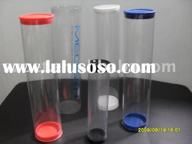 High clear plastic tube with cap on both end or sealed bottom