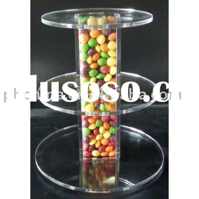 Smart 3 Tiers Tubes Acrylic Cup Cake Stand,Acrylic Chocolate/Candy Holder
