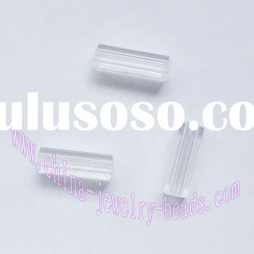clear tube beads, tube acrylic beads, tube spacers beads