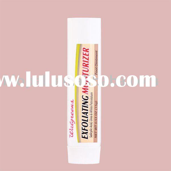 plastic flexible tubes with ribbed cap