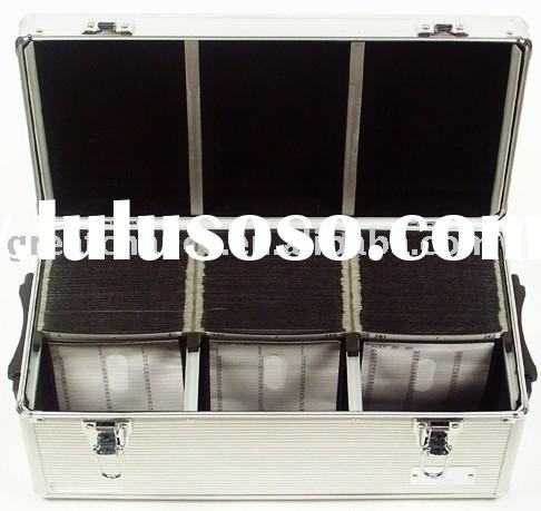 ALUMINUM 390 CD DVD-R STORAGE CASE WALLET HOLDER DJ BOX
