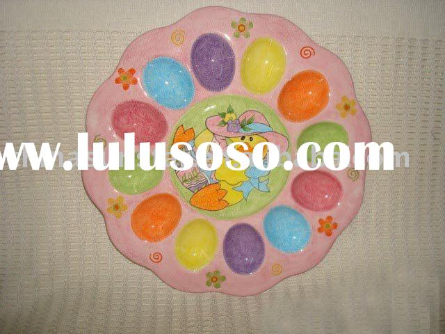 Ceramic easter egg tray
