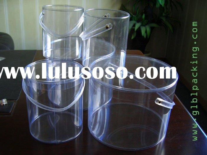 Clear Plastic Tube Box with Handle
