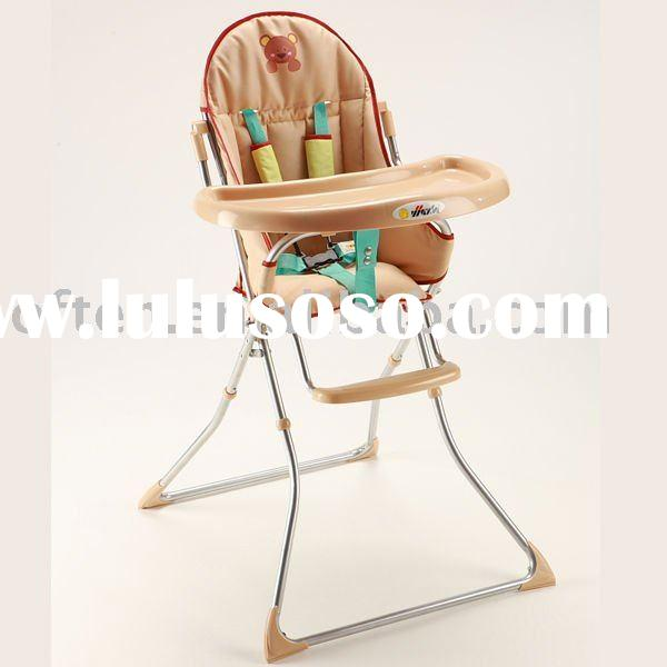 Foldable baby high chair with EN14988 certificate