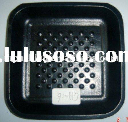 GH6-plastic food tray,plastic tray,black PP