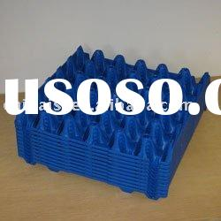 Injection mold for plastic egg trays