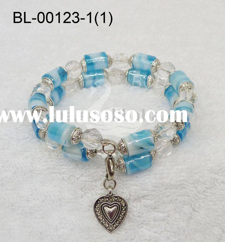 Multi-Strand Glass Beaded Bracelet