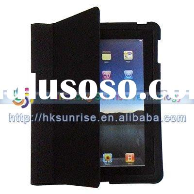 New  black Leather Case Cover For Apple iPad