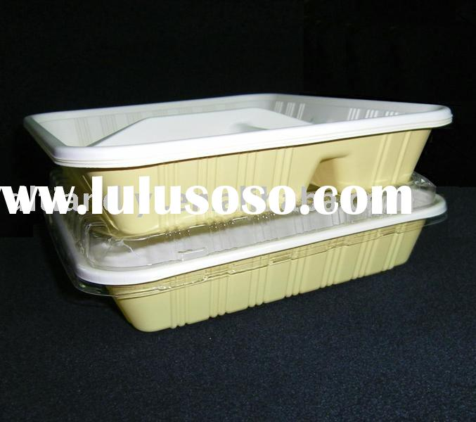 Plastic disposable food container/box/tray