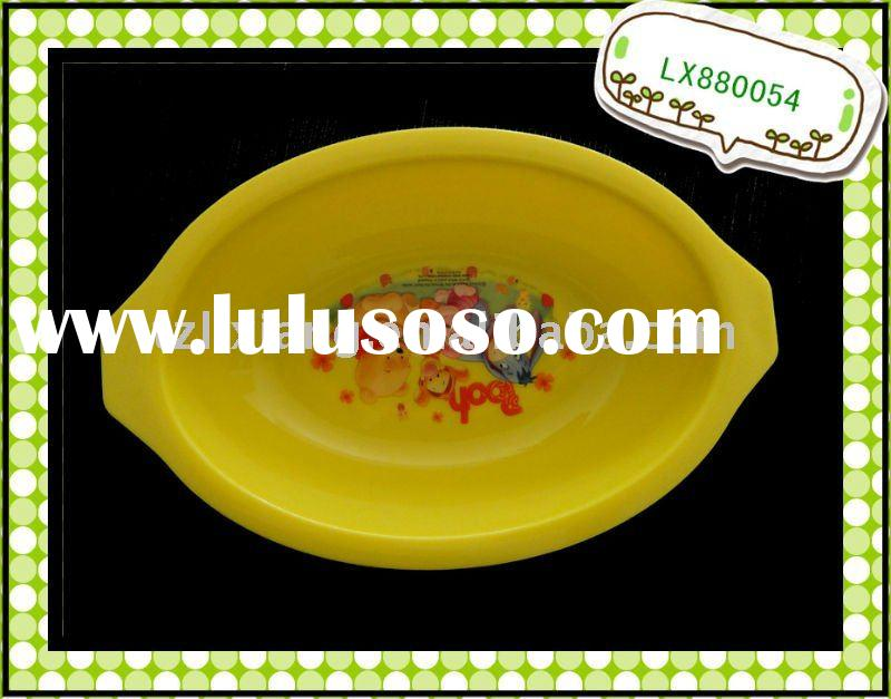 Plastic tray PP unbreakable  plate oval kids dinner  plate LX880054