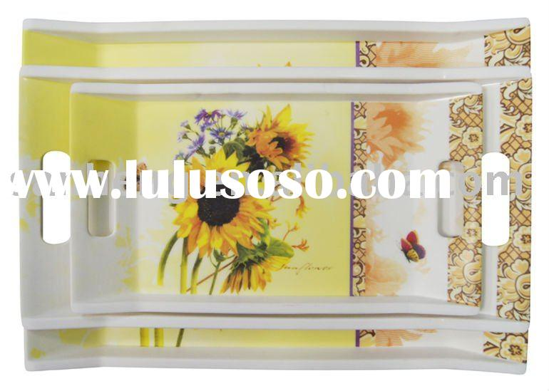 Rectangle melamine food serving tray